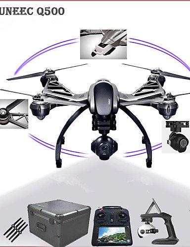 TT&FF Yuneec Taifun Q500 5,8 GHz 4-Achsen-4k-Kamera-Drohne Doppel Batterien komplett mit kardanisch, Kamera und Handheld-Gimbal , black-us adapter