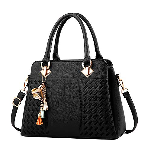 TianWlio Damen Klassische Handtasche Winged Schultertasche Groß Umhängetasche Taschen Damen Tasche Mode Gewebt Muster Handtasche Schultertasche