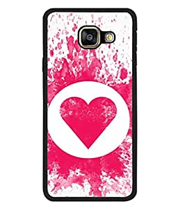Fuson Designer Back Case Cover for Samsung Galaxy A3 (6) 2016 :: Samsung Galaxy A3 2016 Duos :: Samsung Galaxy A3 2016 A310F A310M A310Y :: Samsung Galaxy A3 A310 2016 Edition (Circle Heart Colour Splash Dots )