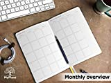 Personal Daily Planner and Agenda - Weekly and Monthly Organizer for Men and Women - NO Dates Goal and Productivity Planner