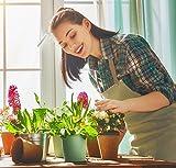 Damen-Gartenschürze mit Taschen - Arbeitsschürze, Künstlerkittel - Geschenke für Gärtner