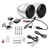 FLAMEER 2X Lautsprecher Wasserdichte Motorrad Lenkstange Lautsprecher + Verstärker Mit Für Motorrad
