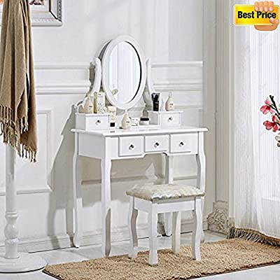 Dressing Table and Chair, 5 drawers