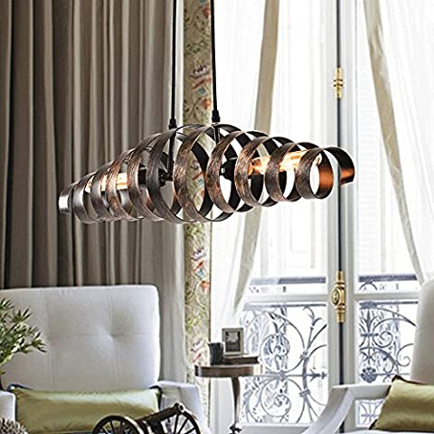 Frideko Vintage Industrial Spiral Ceilling / Wall Pendant Light for Bars Pubs Clubs