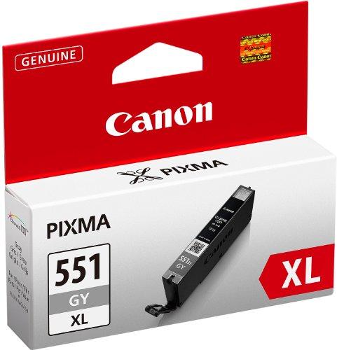 Canon CLI-551XL GY original Tintenpatrone  Grau XL für Pixma Inkjet Drucker MG6350-MG7150-MG7550-iP8750