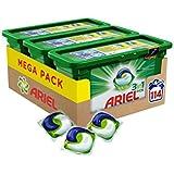 Ariel 3 in 1 Pods Vollschwaschmittel, 3 Pack (1 x 114 Waschladungen) frustfreie Verpackung