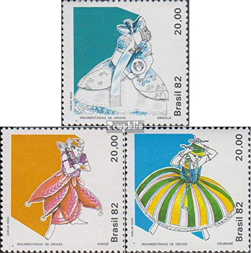 Prophila Collection Brasilien 1912-1914 (kompl.Ausg.) 1982 Trachten der Orixas (Briefmarken für Sammler) Uniformen / Trachten