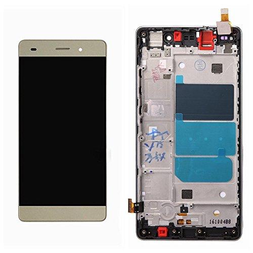 Huawei P8 lite Display im Komplettset LCD Ersatz Für Touchscreen Glas Reparatur (Gold + Rahmen) -