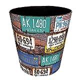 MAJOZ MAJOZ Papierkörbe Vintage, 10L Mülleimer Wasserdicht Groß PU Leder Abfalleimer Mülleimer Mülltonne Papierkorb für Büro/Badezimmer/küche/Schlafzimmer