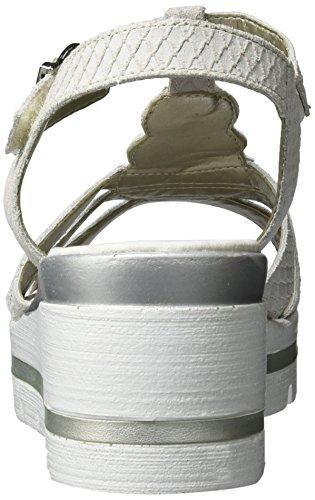 Remonte D1550, Sandales Bout Ouvert Femme Blanc (Kreide/80)