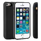 adorehouse iPhone 5 5S Se Coque Batterie Étui 4000mAh Ultra Mince External Rechargeable de Chargeur Portable de Secours Externe Chargeur Housse Power Case Prolonger de Protection pour iPhone 5 5S Se