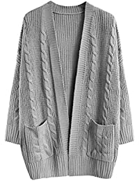 db55d8f038c55 Hulday Donna Cardigan Autunno Invernali Taglie Forti Fidanzato Cappotto A  Maglia Elegante Moda Festiva Giacca A