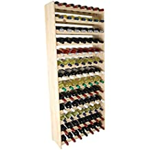 Weinregal Weinregal Holz Flaschenregal für 91 Flaschen RW-3-91