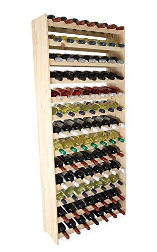 inregal Holz Flaschenregal für 91 Flaschen Massiv-91 ()