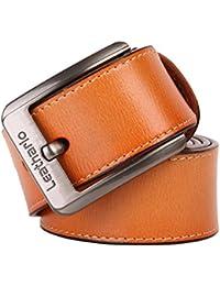 Leathario Hombres Cinturón de Cuero Correa Cinturones de Piel Diseñado para Hombre