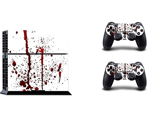 vinyl-blood-pattern-full-protective-skin-cover-sticker-decal-set-for-sony-ps4-console-dualshock-cont