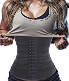 Bafully Womens Waist Trainer Corset Slimming Body Shaper Tummy Control Girdle Band Steel Boned Underwear