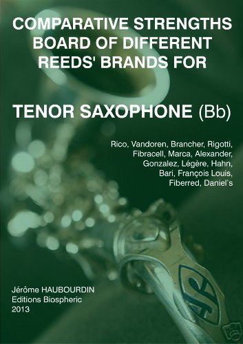 Comparative strengths board of different reeds' brands for Tenor Saxophone (Bb) (English Edition)