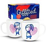 Gifffted Tazze Coppia Da Tè E Caffe Mr E Mrs Flower, Regali Per Le Coppie,...