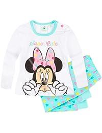 Pantalon et T-shirt manches longues bébé fille Minnie Blanc bleu 3 à 24mois 206da655972