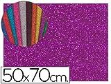 Liderpapel - Goma eva con purpurina 50x70cm 60g/m2 espesor 2mm violeta (10 unidades)