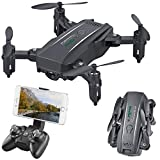 Simulus Quadrokopter: Faltbarer FPV-Mini-Quadrocopter, Full HD, WLAN, App, 5-MP-Sensor, 50 m (Quadrocopter Drohne Kamera)