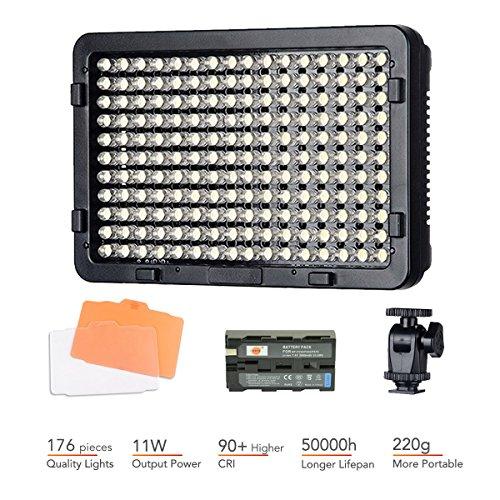 Tolifo PT-176S Fotografie LED-Beleuchtung für Foto Video Studio für Canon Nikon Sony DSLR Kamera Camcorder mit F550 Akku