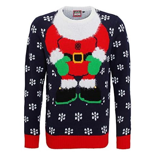 immagini dettagliate 8aad7 184da Christmas Shop - Maglione con applicazioni 3D - Babbo Natale ...