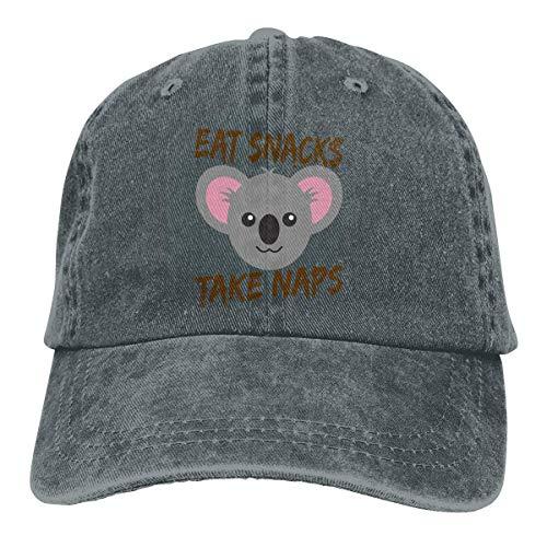 �tzen/Hat Trucker Cap Eat Snacks Take Naps Koala Cowboy Cap Unisex Adjustable Dad Baseball Hats Deep Heather ()