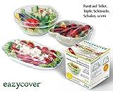 Eazy Cover Wiederverwandbare Cling Film Starter Set | Microwave. BPA Free