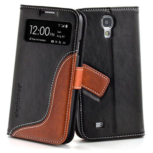 Samsung Galaxy S4 Hülle Handyhülle von elephones mit UNZERBRECHLICHER SCHALE Handytasche Schutzhülle Handyschutz Wallet Case Klapp Schutz Handy Hüllen Taschen Tasche Hülle Cover Etui Flip