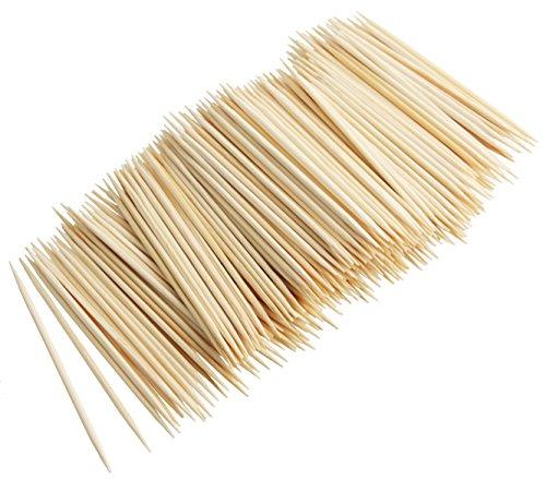 Fackelmann Zahnstocher ASIA LINE, Holzspieße aus Bambus, robuste Naturholzspieße (Farbe: Braun), Menge: 300 Stück