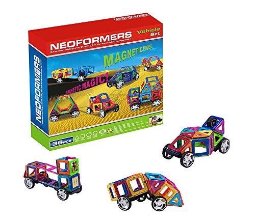 Jeu de construction magnétique, blocs de construction pour enfants, mini jeu éducatif et créatif - 36 pièces (idée cadeau de Noël pour les enfants)