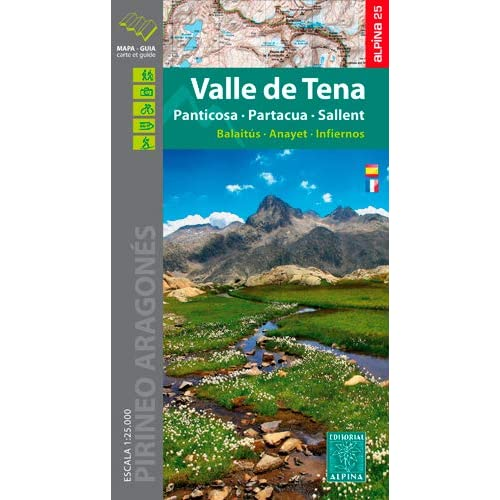 VALLE DE TENA/PANTICOSA/PARTACUA/SALLENT - 1/25.000