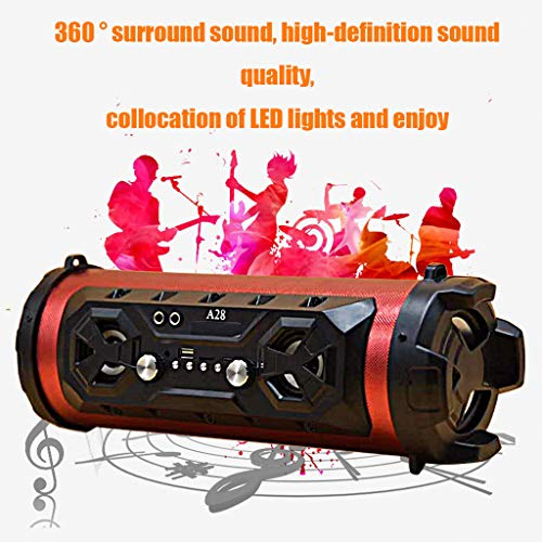 Jamicy® Wireless Bluetooth Lautsprecher, Stereo-Subwoofer Lautsprecher mit unglaublicher 6 Stunden Akkulaufzeit und 5W Dual-Treiber, reinem Bass und eingebautem Mikrofon für Familientreffen (C03)