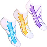 Ladies & Girls White England Sports Trainer Socks Pastel Mix (3 Pair Multi Pack)