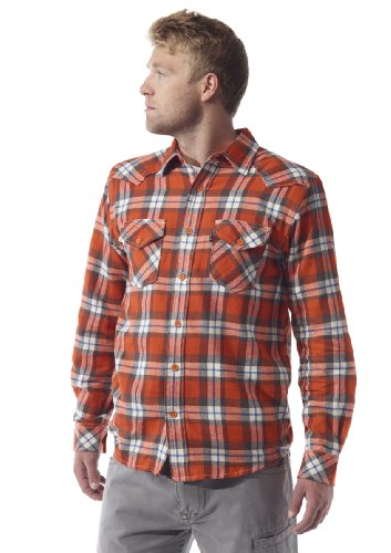 KAVU Herren 's The Earl Long Sleeve Shirt XS Orange (Orange Kavu)