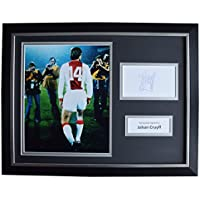 Sportagraphs Johan Cruyff Signed FRAMED Photo Autograph 16x12 display Ajax Football AFTAL COA PERFECT GIFT