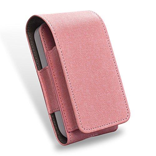 Tasche für Elektronische iQOS-Zigarette, Schutzhülle/Halterung, Platz für Geldbeutel, aus Kunstleder, mit Kartenhalter, Pink