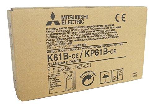 MITSUBISHI ELECTRIC Corporation k61b-ce/kp61b-ce Kit Thermopapier für Drucker Deckenhalterung, A6, 110mm x 20m, 4Stück