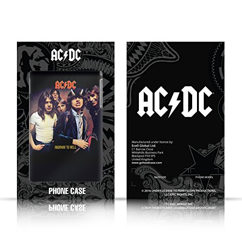Ufficiale AC/DC ACDC Back In Black Copertina Album Cover Retro Rigida per Apple iPhone X Flick Of The Switch
