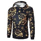 Herren Kapuzenpullover Winter Langarm Sweatshirt Lässige Kapuzenpullover solide Poloshirt Tops(Mehrfarbig,EU 48/CN XL