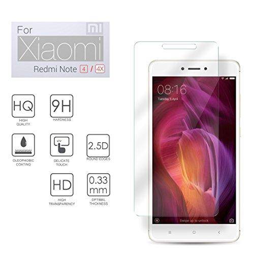 eprote Xiaomi Redmi Note 4X Hartglas Schutzfolie, Gehärtetem Glass Folie für Xiaomi Redmi Note 4X / 4, 5.5 Zoll - 9H Glashärte, Kratzfeste und Ölabweisende Beschichtung, HD Transparenz und Feingefühl