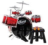BSD Musik Spielzeug - Groß Schlagzeug für Kinder, Trommeln für Kinder, Schlagzeug Trommeln Spielzeug - Rot