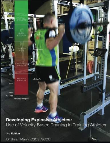 Developing Explosive Athletes: use of velocity based training in athletes por J. Bryan Mann PhD.