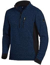 FHB Sweater Patrick Strickfleece 79597, Farbe:marine/schwarz;Größe:L