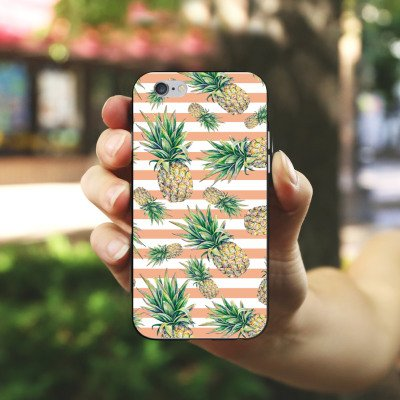 Apple iPhone 5s Housse Outdoor Étui militaire Coque Ananas Fruits Été Housse en silicone noir / blanc