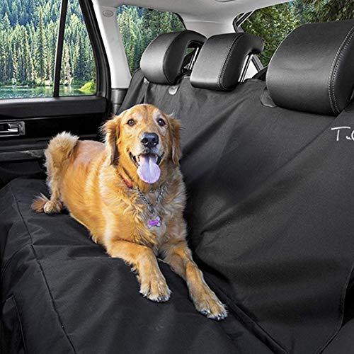 Pkfinrd Dog Car Seat Covers for Il Sedile Posteriore con Tasche, Auto Amache for i Cani, Animali Domestici Copertura Sella Antiscivolo Impermeabile for Automobili autocarri e SUV, Nero