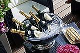 10,5 Liter Champagnerkühler »St. Moritz« mit 43 cm Durchmesser, innen gehämmert, doppelwandig für bessere Isolierleistung (Sektkühler, Flaschenkühler, Weinkühler) - 3