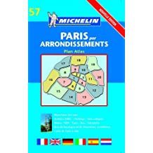 Plan de ville : Paris par arrondissements, numéro 57